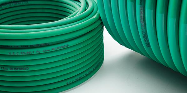 Due rotoli di cinghie termosaldabili in verde