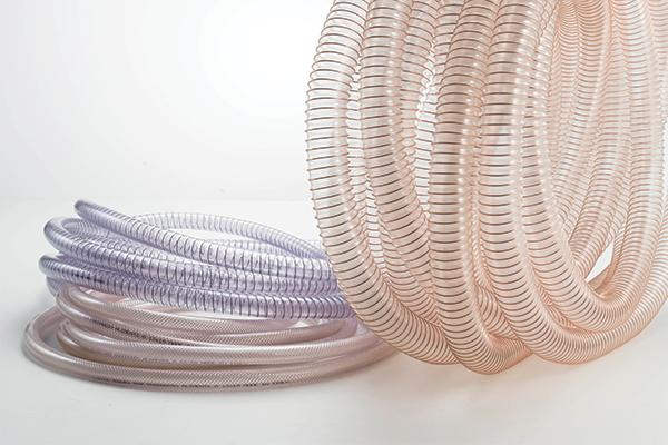 Immagine di tubi in PVC e PU trasparenti per carichi medio pesanti