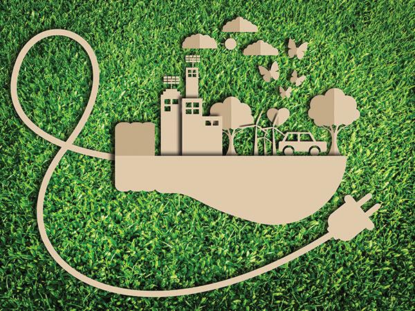 Raffigurazione ideale della produzione attenta all'ecologia