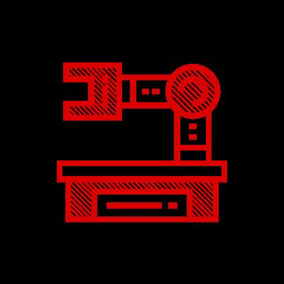Icona raffigurante una macchina da lavoro tipo pressa meccanica