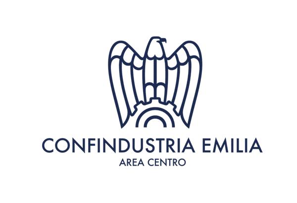 Logo di Confindustria, un'aquila stilizzata con scritta 'confindustria emilia' e sotto 'area centro'